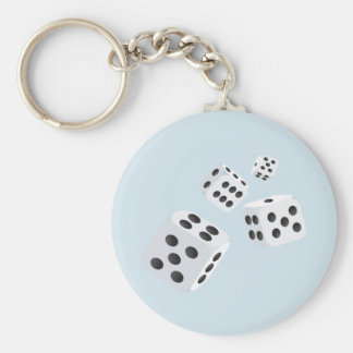 Four Dice Key Ring