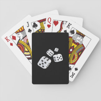 Four Dice Playing Cards