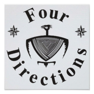 Four Directions Thunderbird Poster