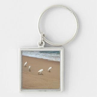 Four Egrets Key Ring