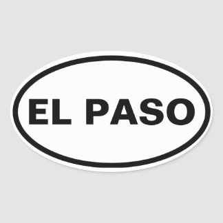 FOUR El Paso Oval Sticker
