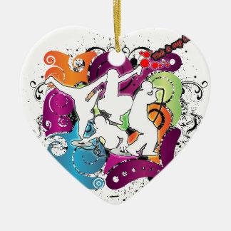Four Elements 101 Ceramic Heart Decoration