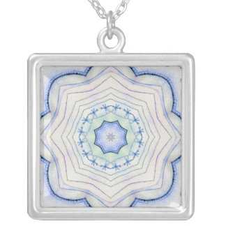 Four Elements Air Mandala Silver Plated Necklace