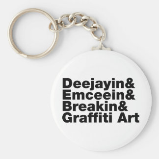 Four Elements of Hip Hop Key Ring
