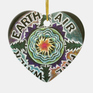 Four Elements Sun Mandala Ornaments