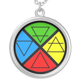 Four Elements Wheel Necklace