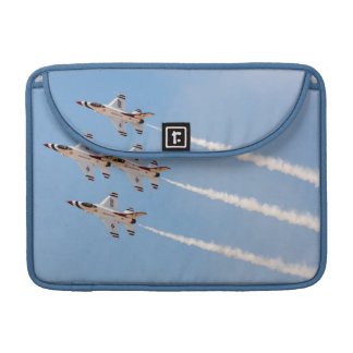 Four F-16 Thunderbirds fly in close formation MacBook Pro Sleeve