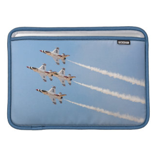 Four F-16 Thunderbirds fly in close formation Sleeve For MacBook Air