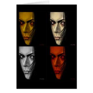 four faces card