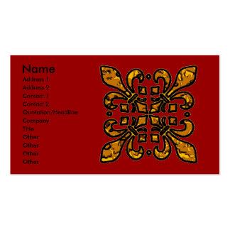 Four Fleur De Lis Double-Sided Standard Business Cards (Pack Of 100)