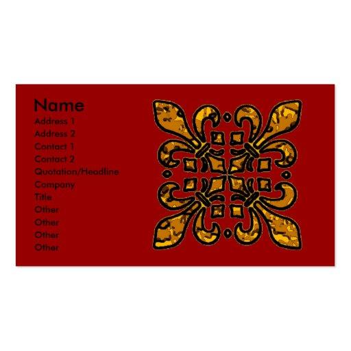 Four Fleur De Lis Business Card Template