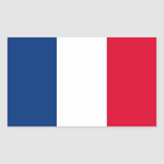 FOUR France National Flag Rectangular Sticker