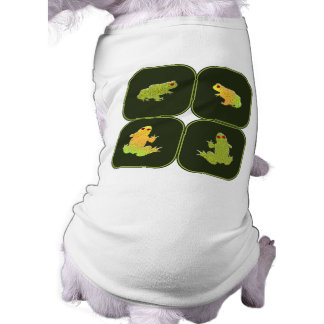Four frogs sleeveless dog shirt