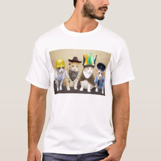 Four Funny Cats T-Shirt