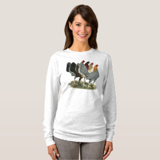 Four Gamefowl Hens T-Shirt