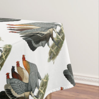 Four Gamefowl Hens Tablecloth
