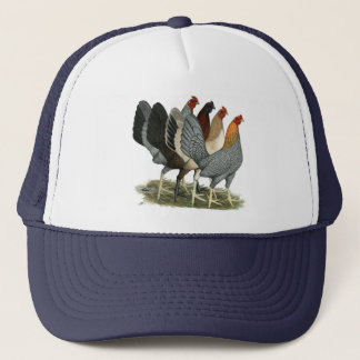 Four Gamefowl Hens Trucker Hat