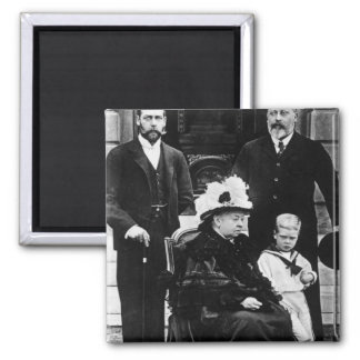 Four Generations of Victorian Royalty Square Magnet