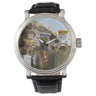 Four Germans Wearing Gas Masks Wristwatch