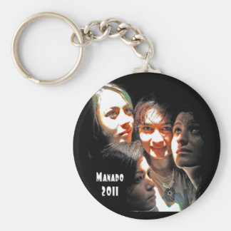 Four Girls in Manado Key Ring
