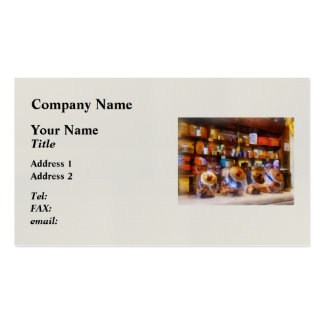 Four Glass Candy Jars Business Cards