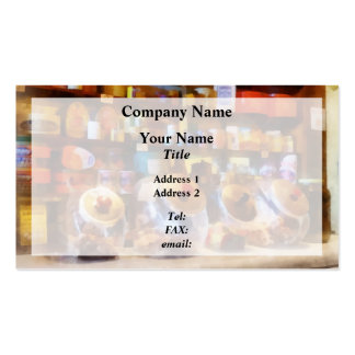 Four Glass Candy Jars Business Card