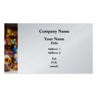 Four Glass Candy Jars Business Card Template