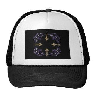 Four Golden Arrows Fractal Art Trucker Hats