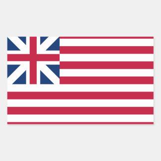 FOUR Grand Union Flag Rectangular Sticker