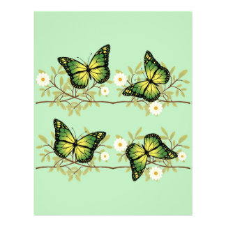 Four green butterflies flyer