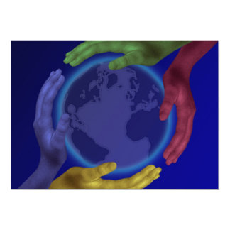 Four Hands on Earth Invitation