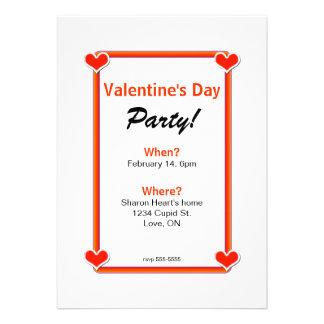 Four Hearts Valentine s Day Party Invitation