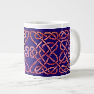 Four Heats Knot Red on Blue Jumbo Mug