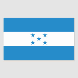 FOUR Honduras National Flag Rectangular Sticker