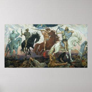 Four Horsemen of Apocalypse by Viktor Vasnetsov Poster