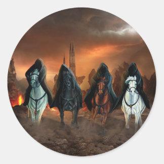 Four Horsemen Of The Apocalypse Round Sticker