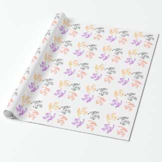 Four Horses Wrapping paper
