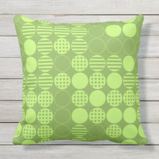 Four In A Row - Dot Design - Green Throw Pillow