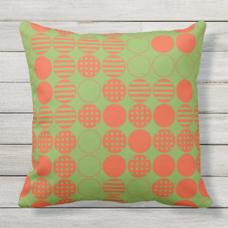 Four In A Row - Dot Design Throw Pillow