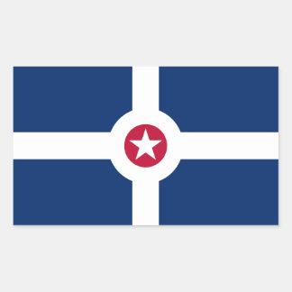FOUR Indianapolis Flag Rectangular Sticker