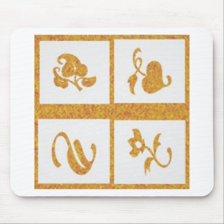 Four Jewels on 3 Artist Created Color Pallets Mouse Pad