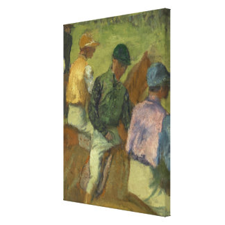 Four Jockeys Canvas Print
