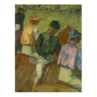 Four Jockeys Postcard