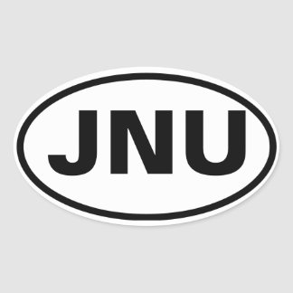 """FOUR Juneau, Alaska """"JNU"""" Oval Sticker"""