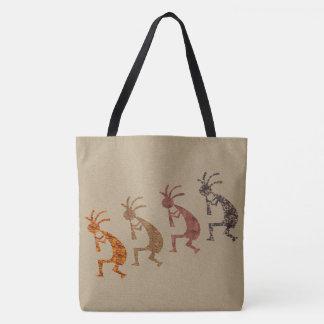 Four Kokopellis in Earth Tones Tote Bag