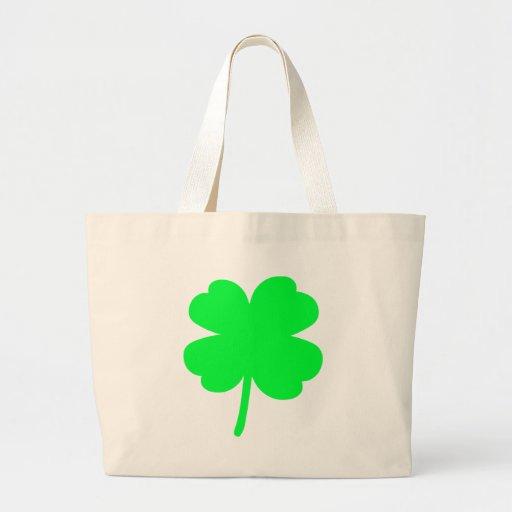 Four Leaf Clover Canvas Bags