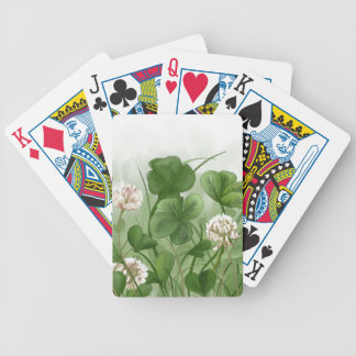 Four Leaf Clover Bicycle Playing Cards