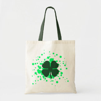 four leaf clover bubbles budget tote bag