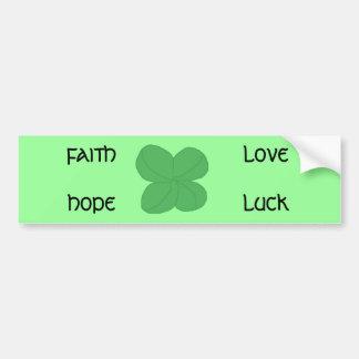 Four-leaf Clover - bumper sticker