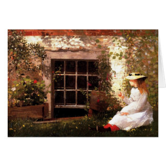 Four-Leaf Clover by Winslow Homer Note Note Card